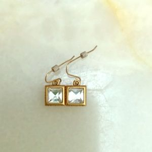 The Limited Gold and Diamond Earrings